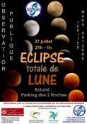 Eclipse de Lune et observation de Mars et Saturne aux télescopes