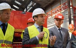 Emmanuel Macron à Areva Le Creusot