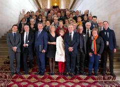 Représentants de l'Union des Maires des Communes Rurales de Saône-et-Loire...