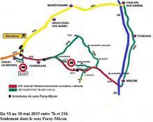 Travaux sur la  RN 79 (Saône-et-Loire)